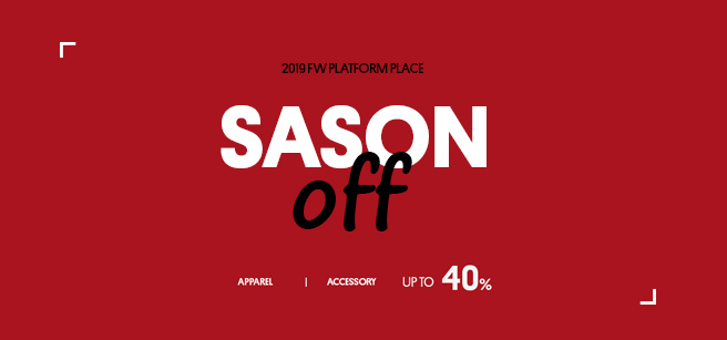 PLATFORM PLACE_Season off sale