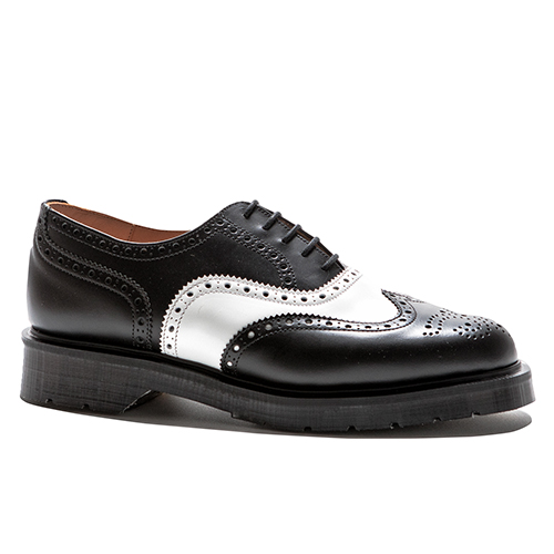5 Eye English/wing-cap Brogue Oxford Shoes(BLK)