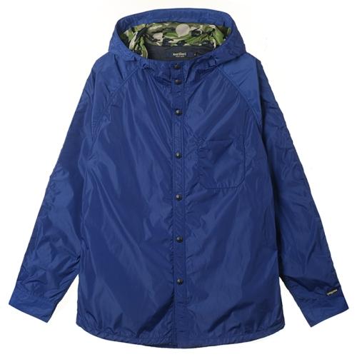 Back Mesh Hood Shirt (BLU)