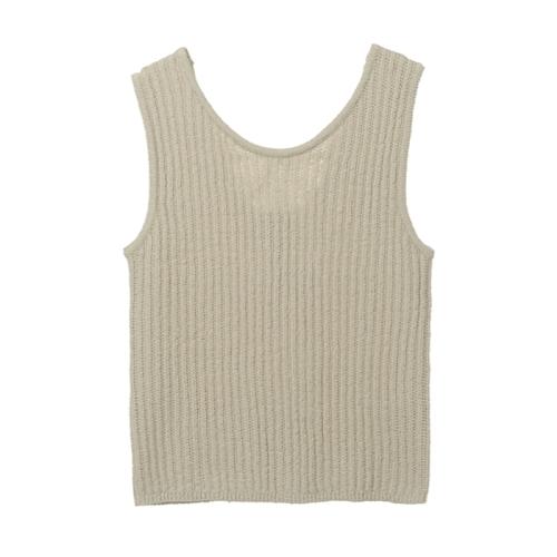 Puff Sleeve Linen Polo Top(BEG)