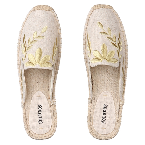 Embroidered Floral Mule(279)