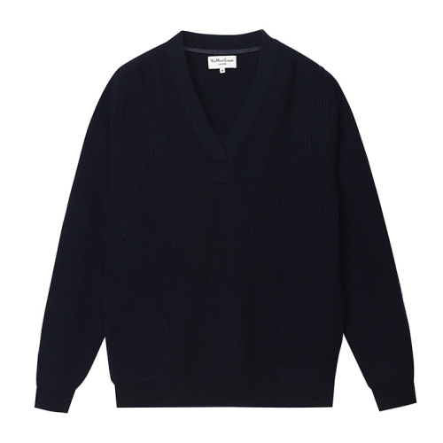 Pocket V-Neck Knit(NVY)