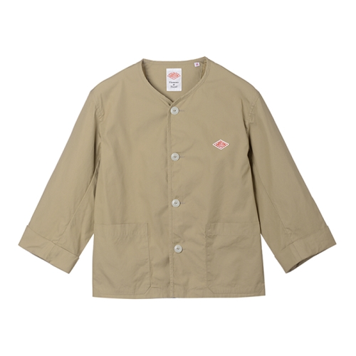 No Collar Work Jacket (TAN)