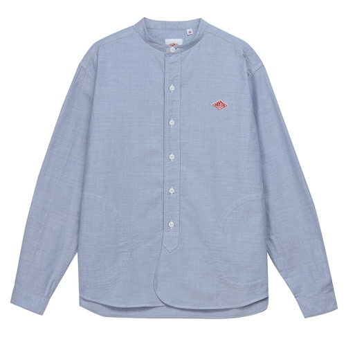 Band Collar Pull Over Shirts (BLU)