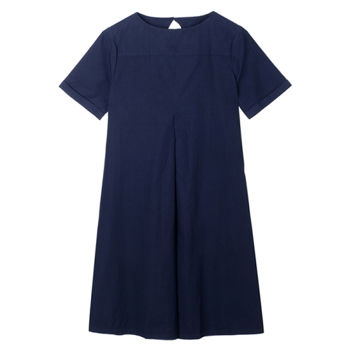Cruz Big Pleat Dress (NVY)