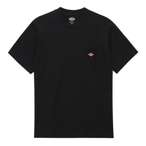 Round Pocket T-Shirts (BLK)