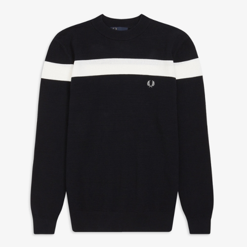 Colour Block Crew Neck Sweater(608)