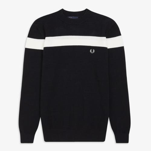 Colour Block Crew Neck Sweater(608)