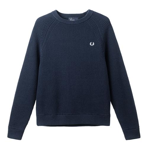[Authentic]Ribbed Crew Neck Sweater(E97)