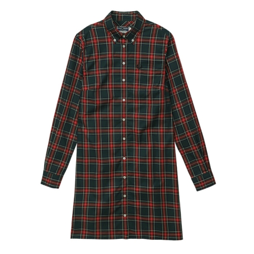 [Reissues]L/S Tartan Shirt Dress(D96)