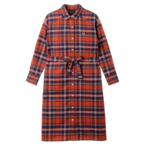 [Japan Collection]Tartan Shirt Dress(J08)