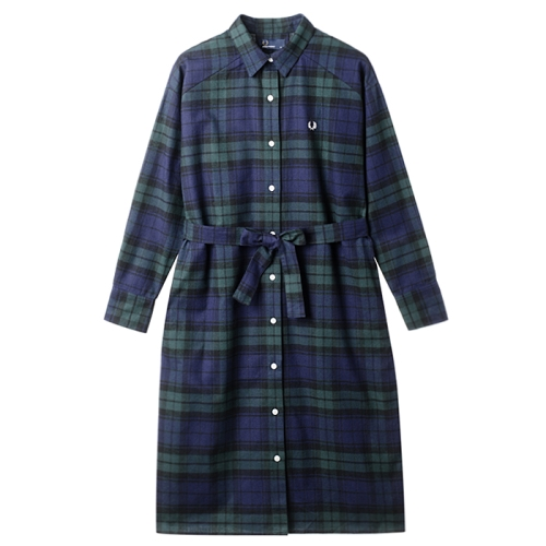 [Japan Collection]Tartan Shirt Dress(J70)