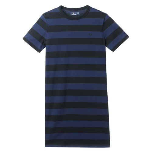 [Authentic] Tonal Stripe Ringer Tee Dress(102)