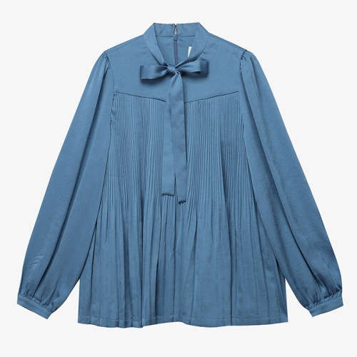 Pleats Bow Blouse (BLU)