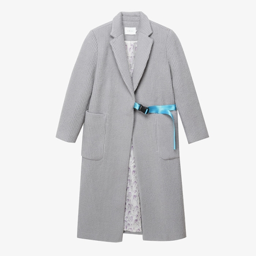 Webbing-Belt Long Coat (GRY)