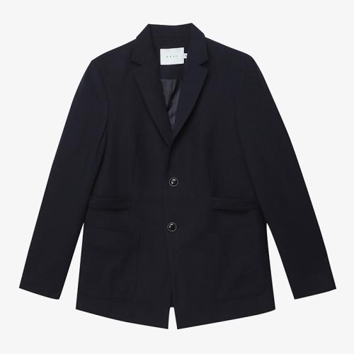 Strap Wool Jacket (NVY)