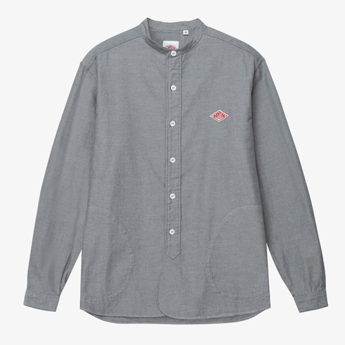 Band Collar Pull Over Shirts (GRY)
