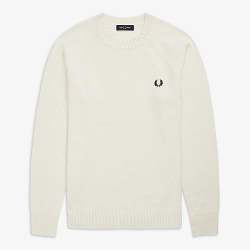 [Authentic] Contrast Texture Crew Neck Sweater(129)