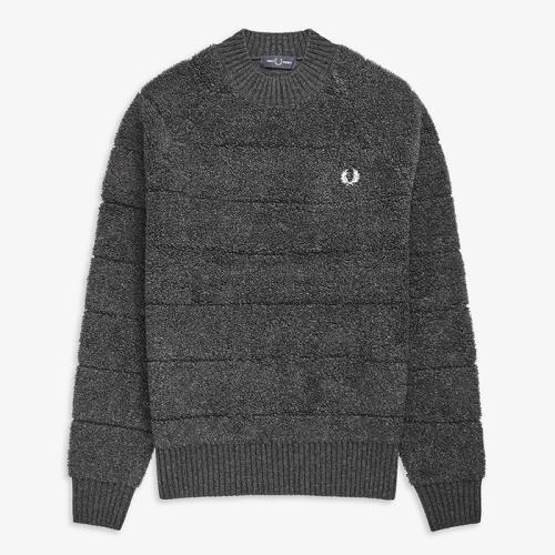 [Authentic] Textured Crew Neck Sweater(I65)