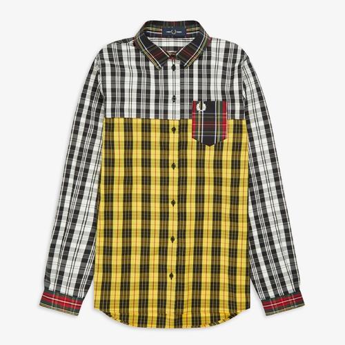 [Authentic] Mixed Tartan Shirt(958)