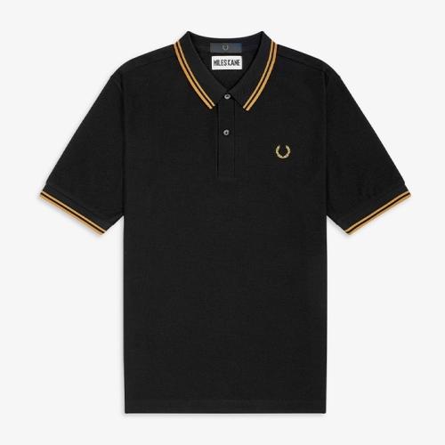 [Miles Kane] Tipped Pique Shirt(102)