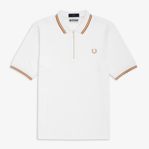 [Miles Kane] Zip Detail Pique Shirt(100)