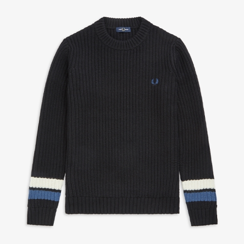 [Authentic] Bold Tipped Crew Neck Sweater(102)