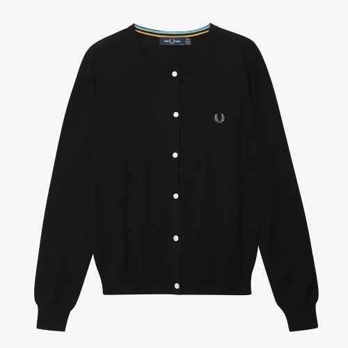 [Japan Collection] Tipped Crew Neck Cardigan(J07)