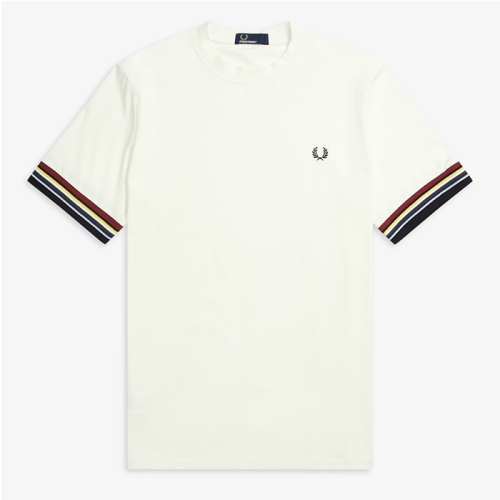 [Authentic] Stripe Cuff T-Shirt(129)