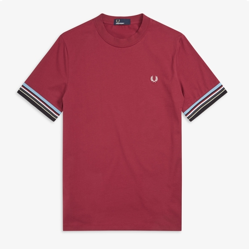 [Authentic] Stripe Cuff T-Shirt(106)
