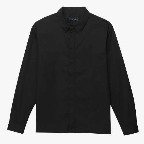 [Authentic] Embroidered Zip Through Shirt(102)