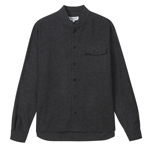 Delinquents Rib Collar Shirt (GRY)