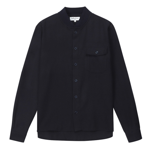 Delinquents Rib Collar Shirt (NVY)