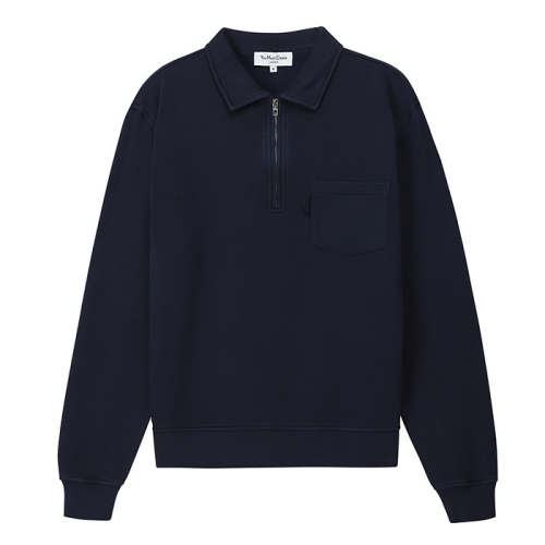 Sugden Zip Sweat (NVY)