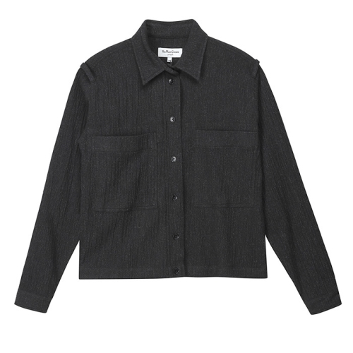 Crop Doc Savage Shirt (BLK)