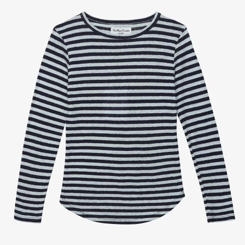 Charlotte L/S Tee  (NVY)