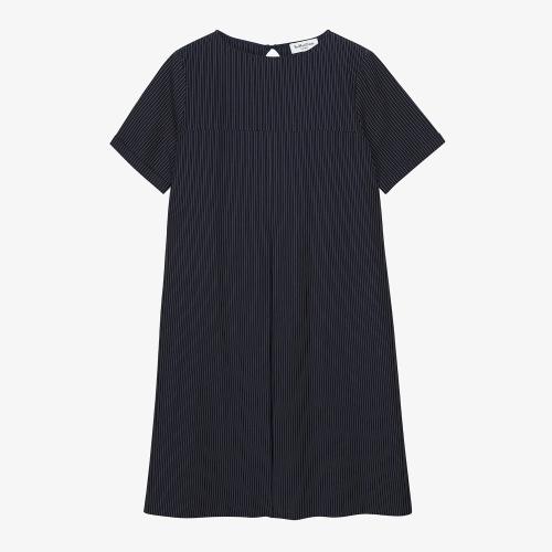 Big Pleat Dress (NVY)