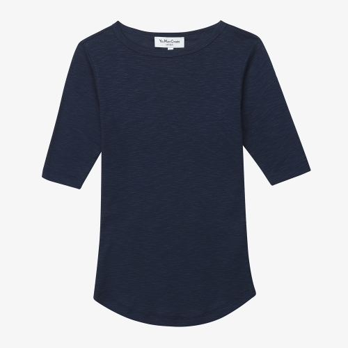 Charlotte S/S Tee  (NVY)