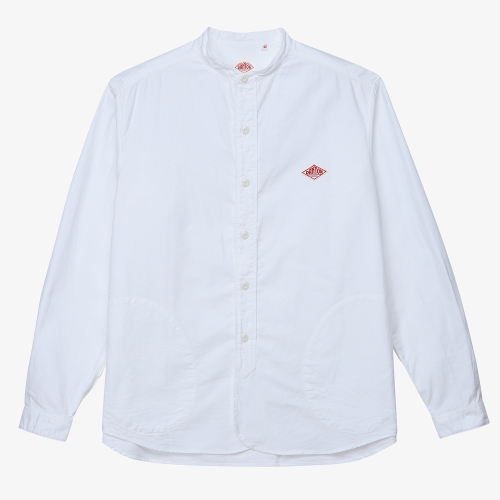 Band Collar LS Shirts (WHT)