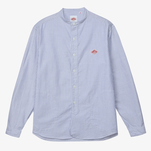 Band Collar LS Shirts (NVY)