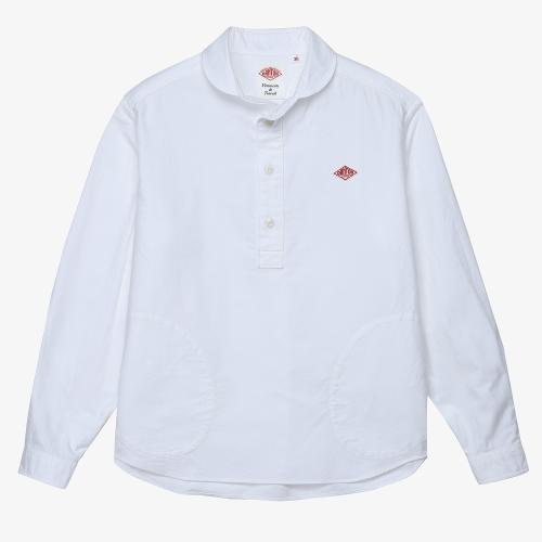 Round Collar LS Shirts (WHT)