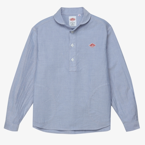 Round Collar LS Shirts (BLU)