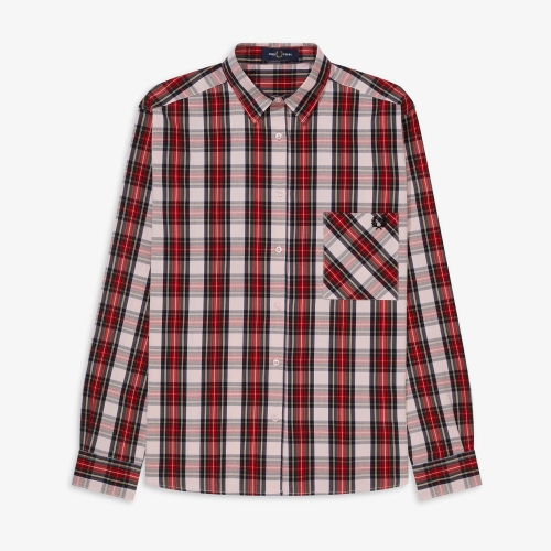 [Authentic] Overdyed Tartan Shirt(J97)