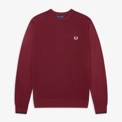 [Authentic] Textured Front Panel Sweater(122)
