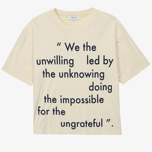 Unwilling Triple SS Tee (CRM)
