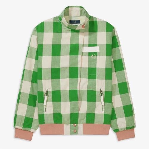 [Akane] Akane Check Harrington Jacket(K66)