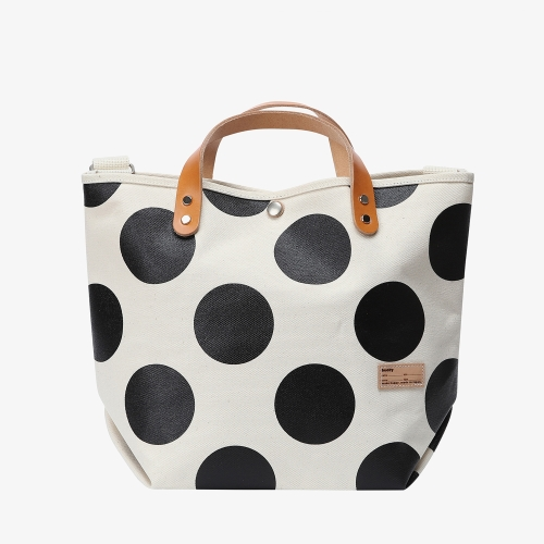 Collar Leather Tote - Dot (DOT)