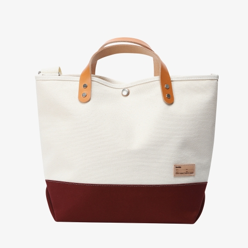 Collar Leather Tote (RED)
