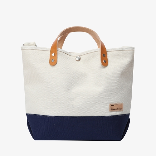 Collar Leather Tote (NVY)