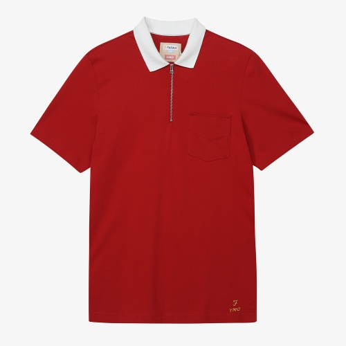 [FARAH]Lubbock Plain Polo (RED)